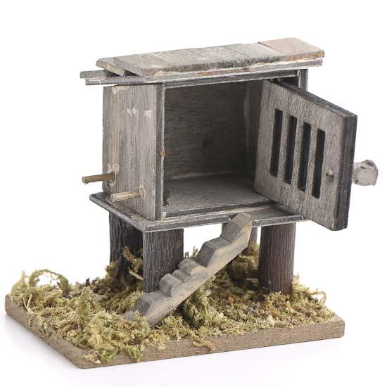 Gnome Garden: Miniature Wood Chicken Coop