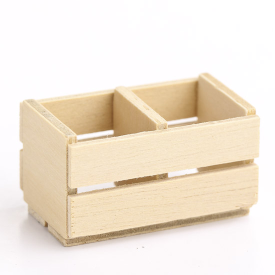Miniature wood slatted fruit crate what 39 s new for Wooden fruit crates