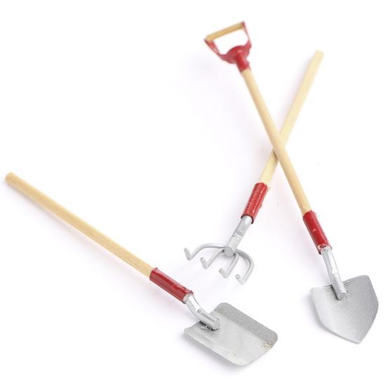 Gnome Garden: Miniature Galvanized Tools