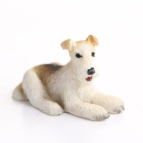 Miniature Wire Haired Fox Terrier Dog Fairy Garden