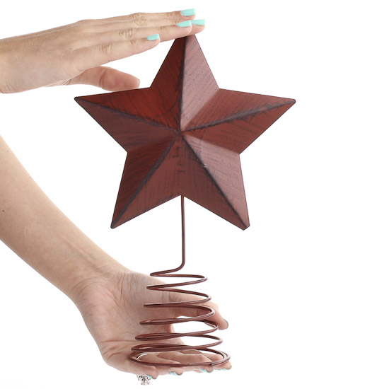 Red Barn Red Star Tree Topper - Christmas Trees and Toppers ...