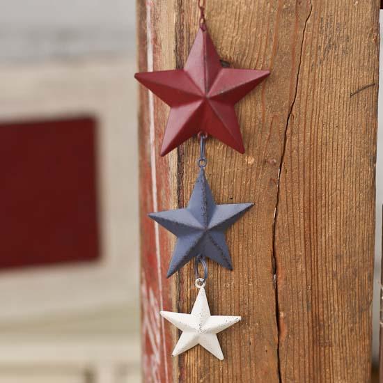 Primitive americana barn star ornament wall decor home for Americana home decor