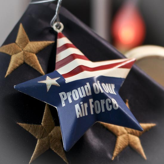 Proud of our air force metal star ornament home decor for Air force decoration examples