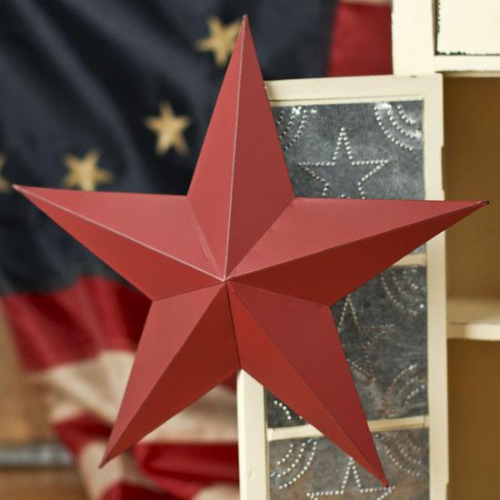 Rustic Red Dimensional Barn Star Ornament - Americana - Primitive Decor