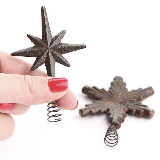Miniature Rustic Star Tree Topper - Christmas Ornaments ...