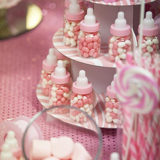 Pink Baby Bottle Shower Favors - Its A Girl Theme Baby -9164