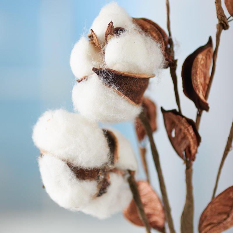 Artificial Cotton Plant Spray Picks Sprays Floral