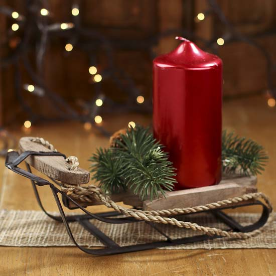 Catalogs For Home Goods: Small Old Fashioned Wood And Iron Sled