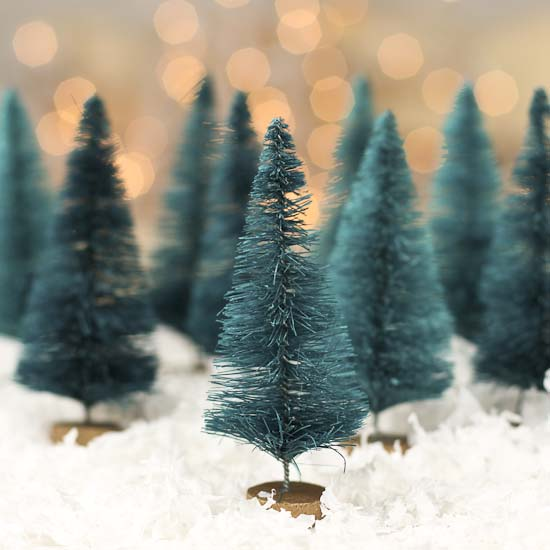 Small Green Bottle Brush Trees - Christmas Trees and ...