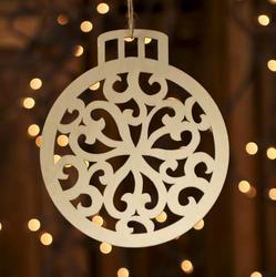 Unfinished Wood Laser Cut Christmas Ornament - Wood ...