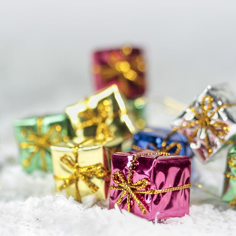 Lot of 16 Miniature Assorted Foil Gift Boxes