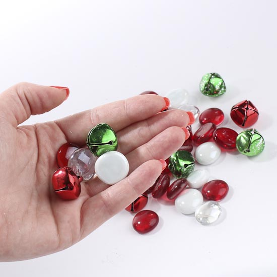Christmas Gems And Jingle Bells Vase Fillers Table Scatters Floral Supplies Craft Supplies