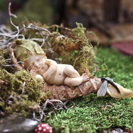 Miniature Sleeping Fairy Baby With Dragonfly What S New