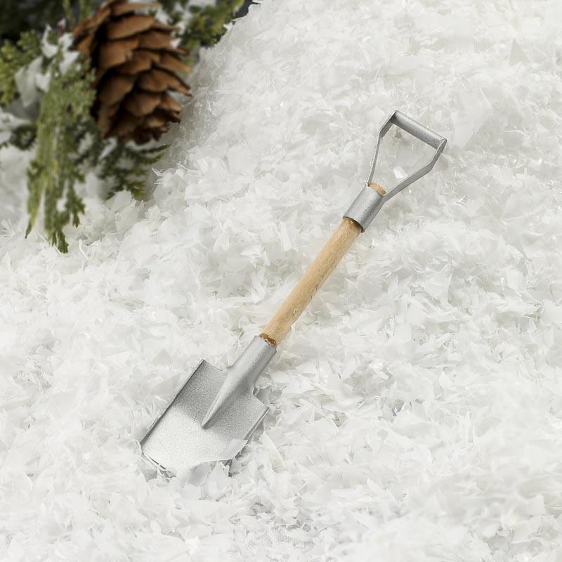 Gnome Garden: Miniature Metal Snow Shovel