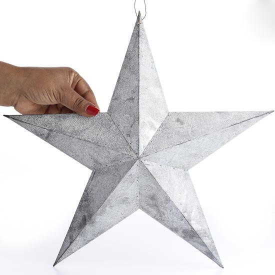 Grey Star Wall Decor : Gray zinc weathered barn star wall decor home