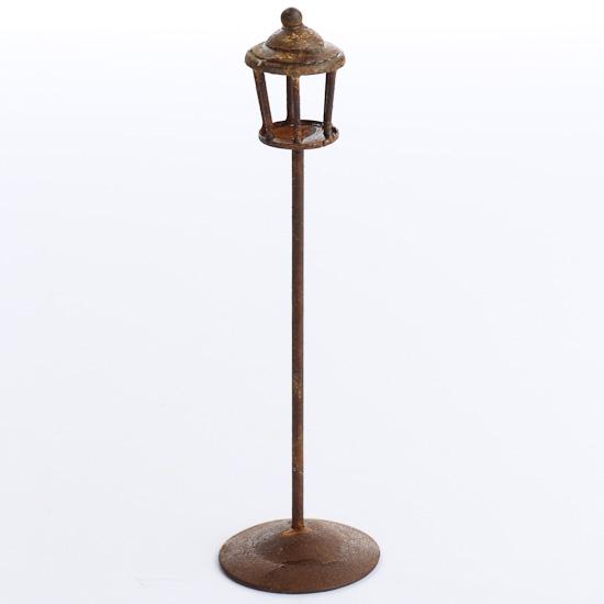 Miniature Rusty Tin Lamp Post Fairy Garden Supplies