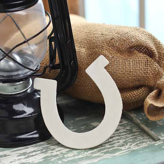 Unfinished wooden horseshoe cutout western theme party for Wooden horseshoes for crafts