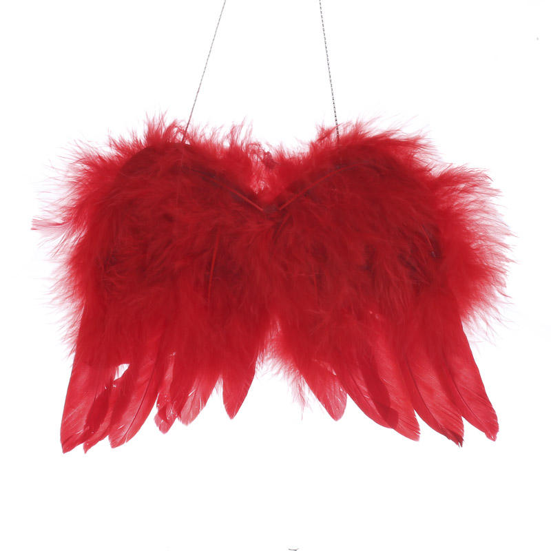 Red Real Feather Angel Wings Angel Wings Doll Supplies