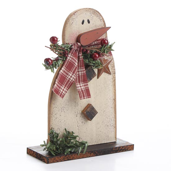 Rustic and distressed wood snowman christmas and winter for Rustic snowman decor
