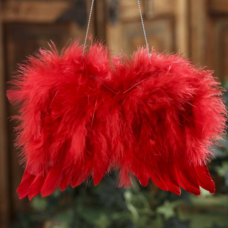 Red Real Feather Angel Wings Angel Wings Doll Making