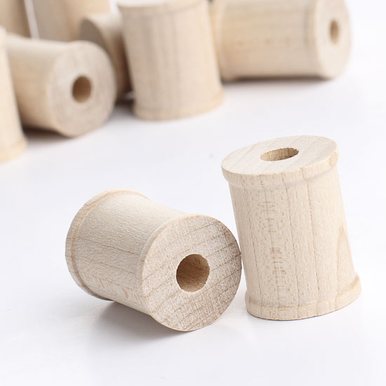 1 wooden spools wooden spools unfinished wood craft for Wooden craft supplies online