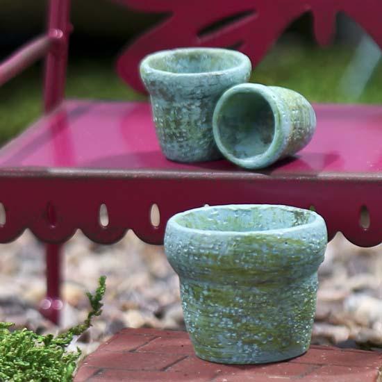 Miniature Clay Pot Set Fairy Garden Supplies Dollhouse
