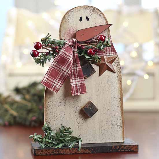 Rustic and distressed wood snowman christmas and winter for Rustic wood crafts ideas