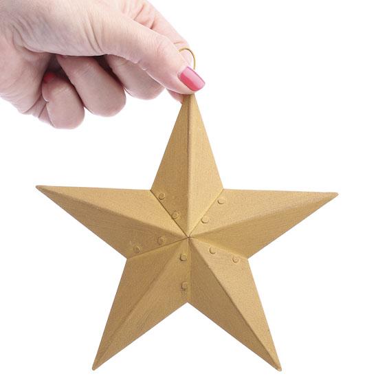 Primitive Tin Mustard Barn Star