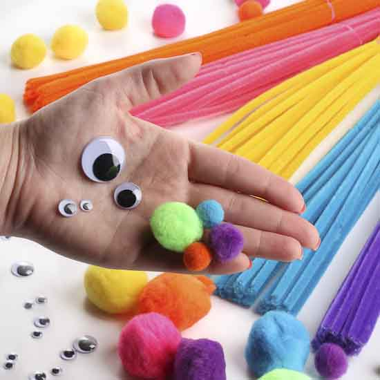 pipe cleaners crafts bright pom pom and pipe cleaner craft kit pom poms 2700