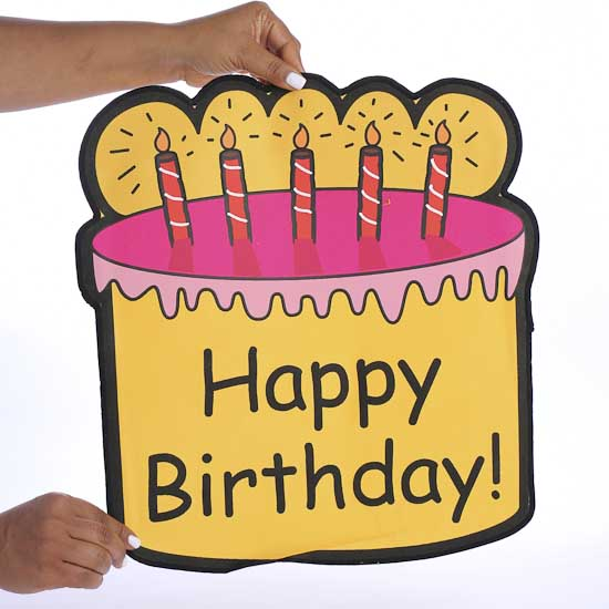 """""""Happy Birthday"""" Chair Pocket Cover"""