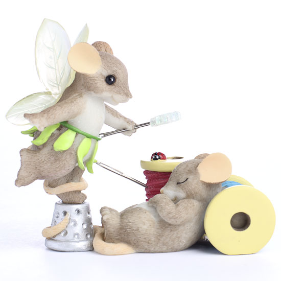 Miniature Fairy Mouse Figurine By Enesco Table Decor