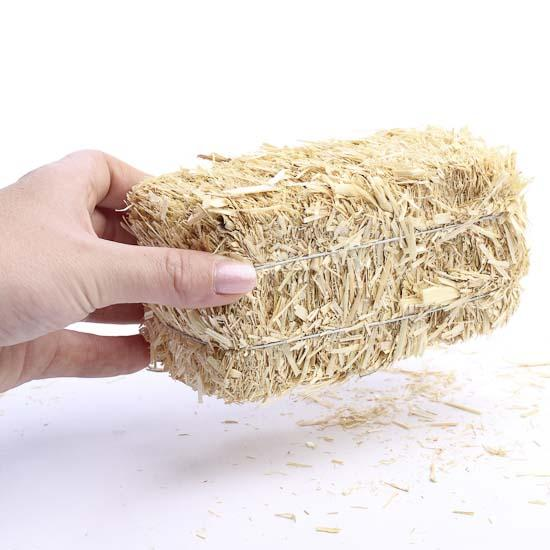 Miniature natural straw hay bale western theme party for Bales of hay for decoration