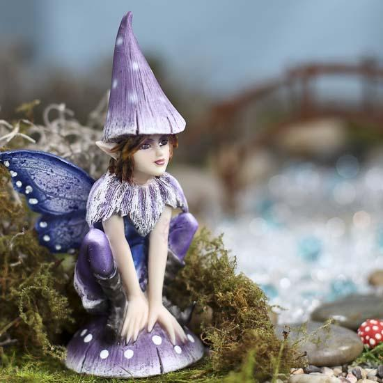 Purple fairy garden figurine what39s new dollhouse for Fairy garden figurines