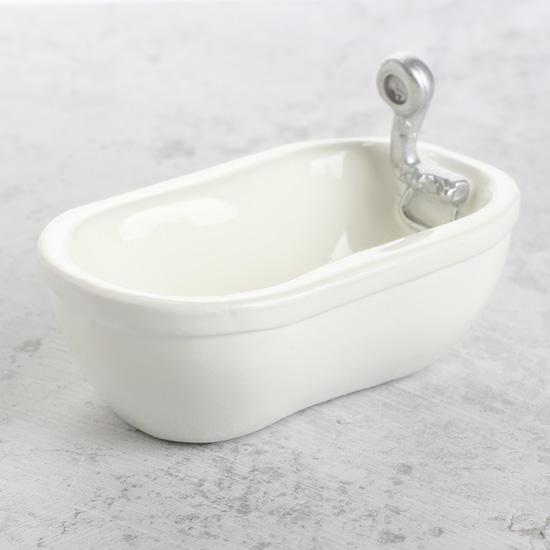Miniature Porcelain Look Bathtub
