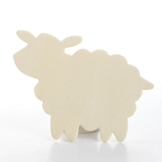 Unfinished wood sheep cutout wood cutouts unfinished for Cardboard sheep template