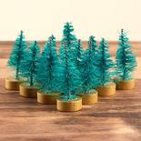Miniature Green Bottle Brush Trees