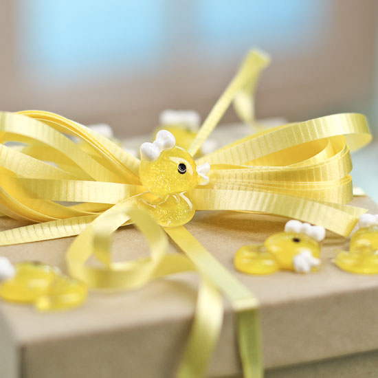 yellow baby duck shower favor decorations confetti table scatters