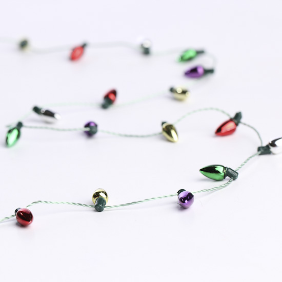 Miniature Christmas Light Bulb Garland   Christmas Garlands   Christmas And  Winter   Holiday Crafts