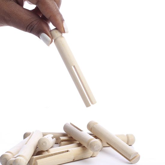 Round Peg Wood Clothespins