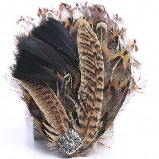 Natural pheasant feather pad feathers boas basic for Natural feathers for crafts