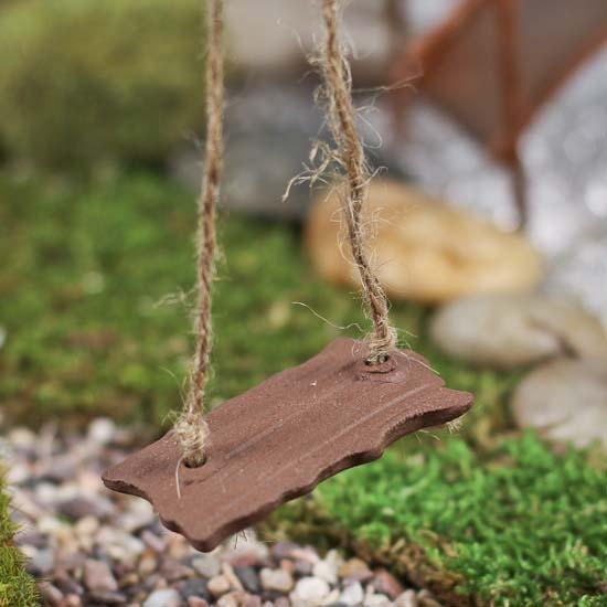 Gnome Garden: Miniature Fairy Garden Swing
