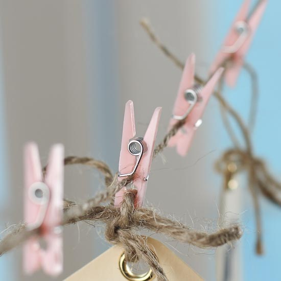 Miniature light pink clothespins it 39 s a girl theme baby for Mini clothespin craft ideas