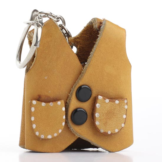 Miniature Leather Vest Keychain - New Items - Factory ...
