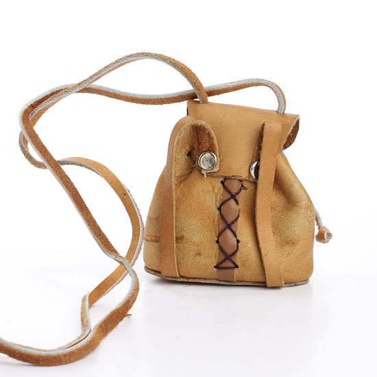 Miniature leather drop bag craft supplies sale sales for Leather craft kits for sale