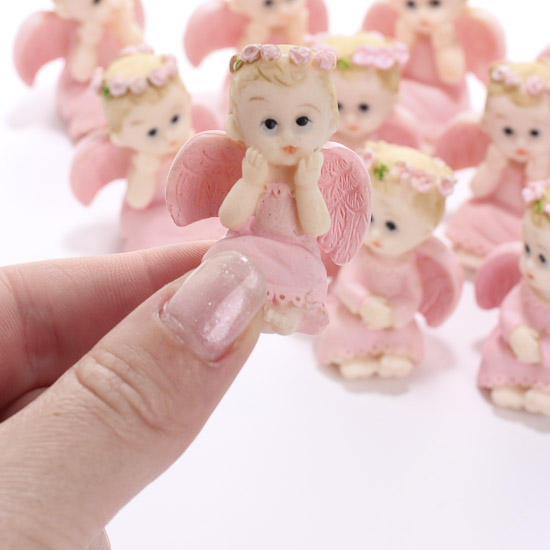 Angel Themed Design For A Baby Girl S Nursery: Miniature Baby Angel Figurines, 12pcs