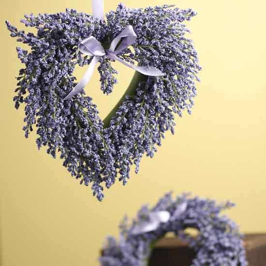 Lavender Wedding Theme: Set Of 2 Artificial Lavender Wreaths