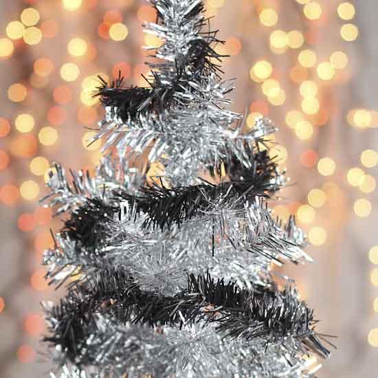 Black rope tinsel garland christmas garlands