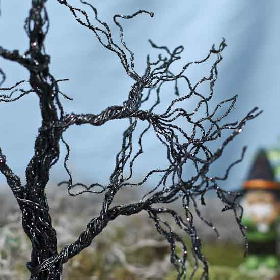 Wicked Black Halloween Wire Tree Sales