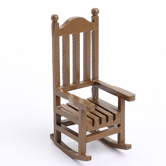 Miniature Wood Rocking Chair What S New Dollhouse