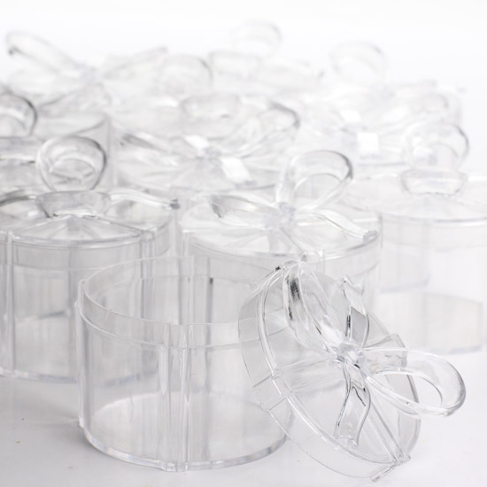 Celebrate It Occasions Favor Boxes With Lids Instructions : Clear acrylic round favor boxes gift bags